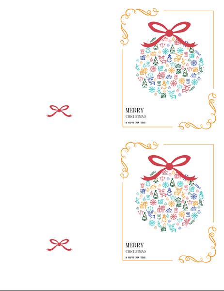 祝日の飾り付けカード