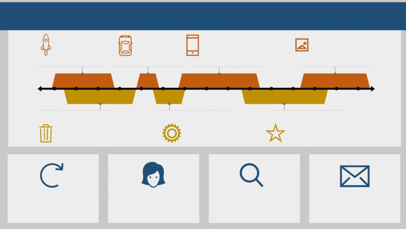 イベント タイムライン インフォグラフィック