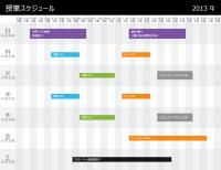 授業スケジュール (時間別)