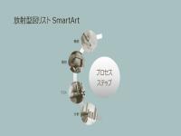 放射状の図のリストを含む SmartArt の処理 (ワイド画面)