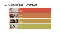 縦方向画像リスト SmartArt によるスライド (白の背景にマルチカラー)、ワイドスクリーン