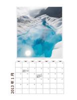 2013 年の月別写真カレンダー (月曜日~日曜日)