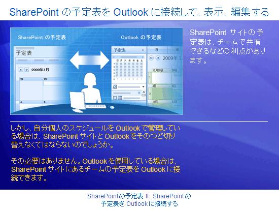 トレーニング プレゼンテーション : SharePoint Server 2007 - 予定表 II: SharePoint の予定表を Outlook に接続する