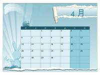 2009 ~ 2010 学校年度カレンダー (4 月~ 4 月、月曜開始)