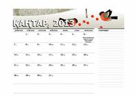 2013 жылдың юлиандық күнтізбесі (Д-Ж)
