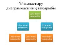 Негізгі ұйымдастыру диаграммасы