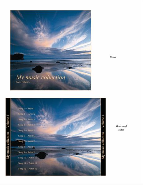 내 음악 컬렉션 CD 케이스 표지(영어)