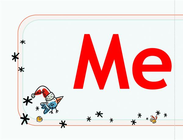 메리 크리스마스 배너(순록 그림)