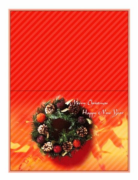 크리스마스 카드(화관 그림)