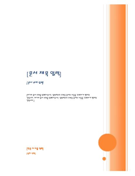 보고서(내어쓰기 양식)