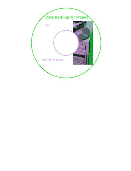 데이터 백업 CD 전면 레이블(영어)