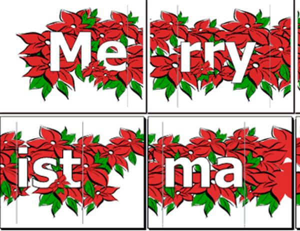 메리 크리스마스 배너(포인세티아 그림)