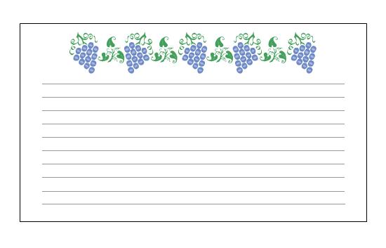 요리법 카드(포도 디자인)