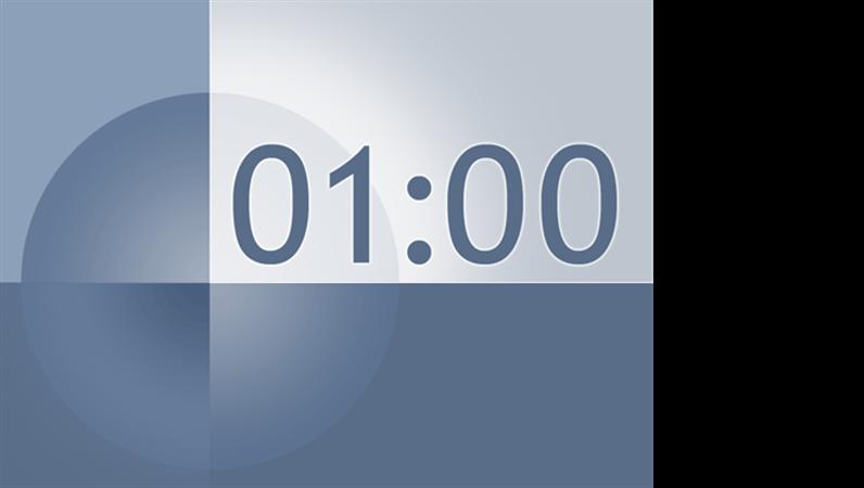 1분 타이머 슬라이드(파랑-회색 디자인)