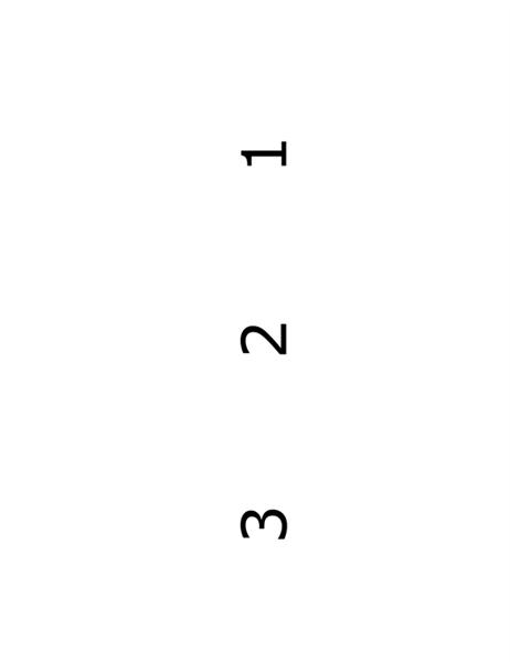 곱셈 플래시 카드(뒷면: 해답; Avery 5388 용지용)