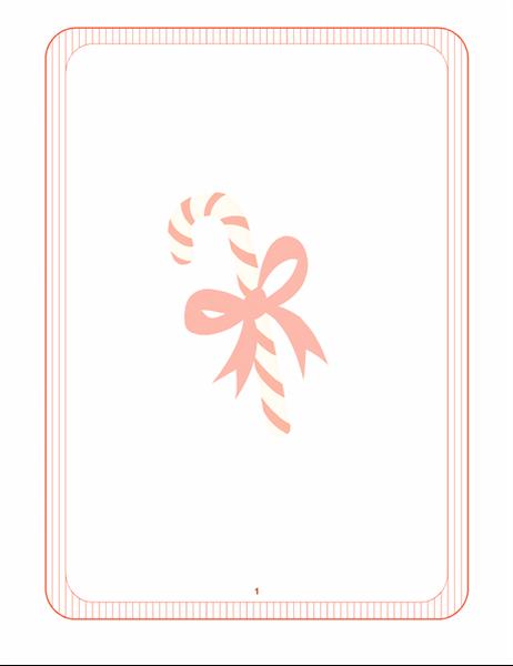 편지지(막대 사탕 워터마크)