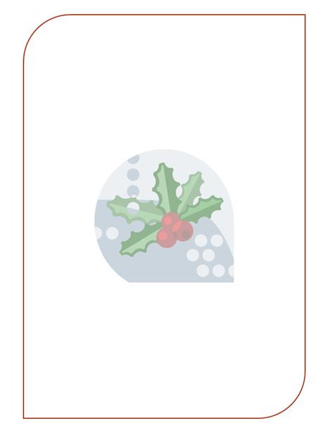 연말연시 편지지 (크리스마스 장식 잎 워터마크)