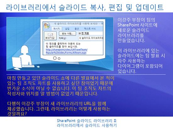 교육 프레젠테이션: SharePoint Server 2007 - 슬라이드 라이브러리 II: 슬라이드 라이브러리에서 슬라이드 사용하기