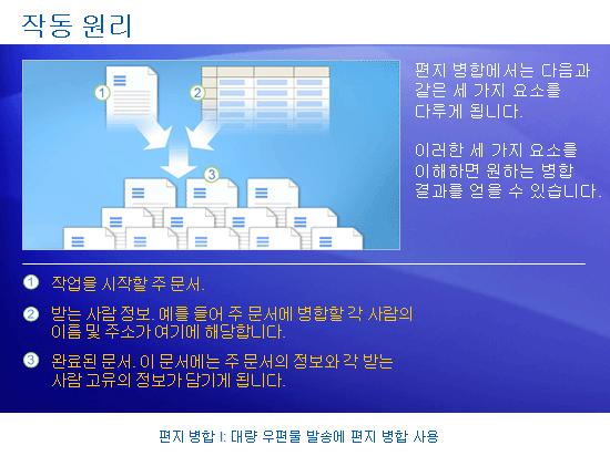학습 프레젠테이션: Word 2007 - 편지 병합 I: 대량 우편물 발송에 편지 병합 사용