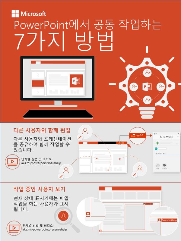 PowerPoint로 공동 작업하는 7가지 방법