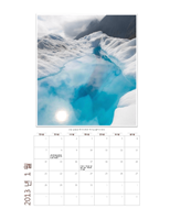 2013년 월 단위 사진 달력(월-일)