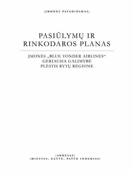 Verslo ataskaita (elegantiška tema)