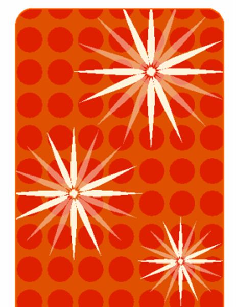 Šventiniai dovanų žymekliai (modernus snaigės dizainas, veikia su Avery 5871, 8871, 8873, 8876 ir 8879)