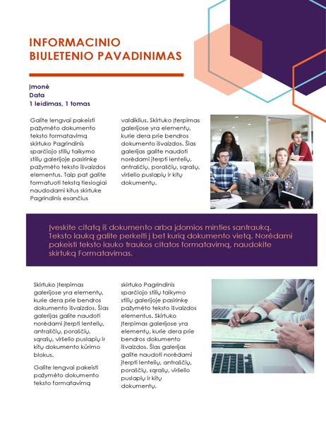 Informacinis biuletenis (administracinis dizainas, 2 puslapiai)