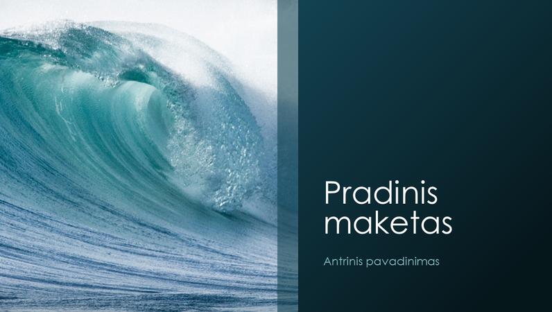 Vandenyno bangų stiliaus pateiktis gamtos tema (plačiaekranė)
