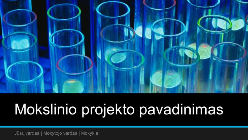 Mokslinio projekto pateiktis (plačiaekranis)