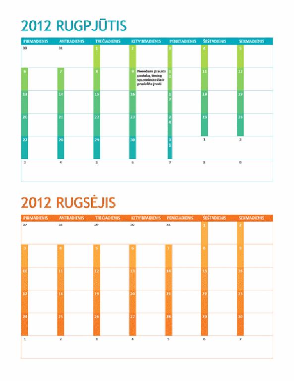 Mokslo metų kalendorius (P–S)