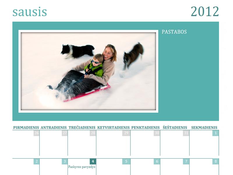 Šeimos nuotraukų kalendorius (mėn.)