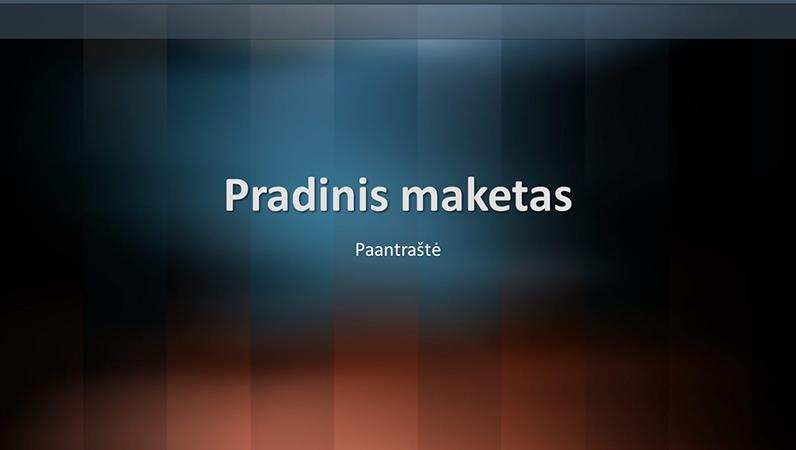 Vertikalaus žodyno dizaino skaidrės