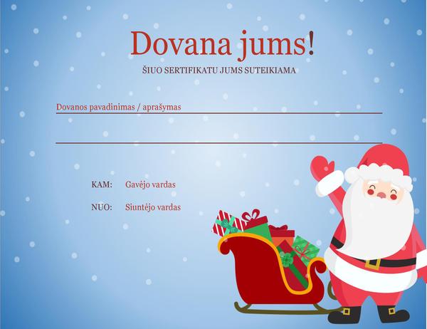 Kalėdinių dovanų etiketė (kalėdinės nuotaikos dizainas)