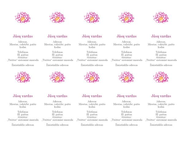 Gėlėtos asmeninės vizitinės kortelės (vertikalios)