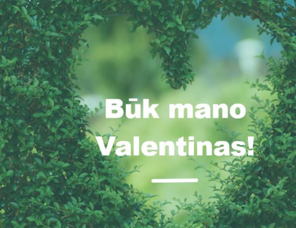 Valentino dienos atvirukas (dvigubo sulenkimo)