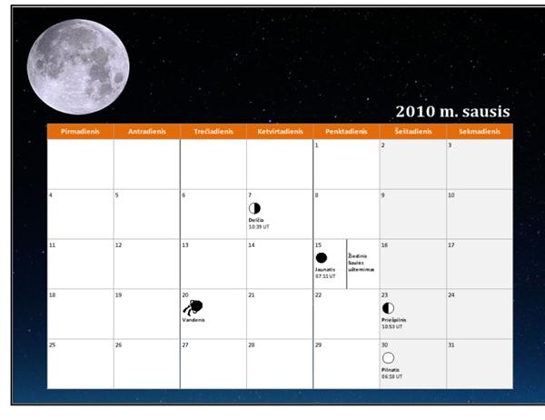 2010 m. mėnulio kalendorius (universalus laikas)