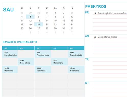 Mokinio kalendorius