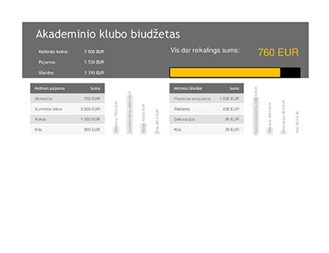 Akademinio klubo biudžetas