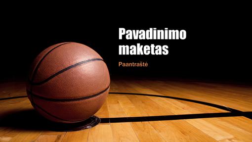 Krepšinio pateiktis (plačiaekranė)