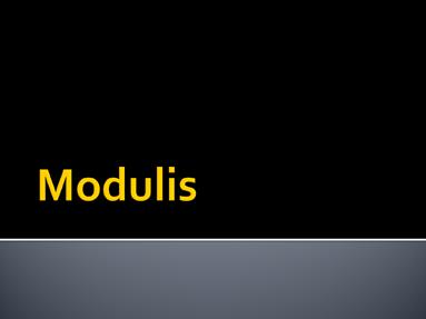 Modulis