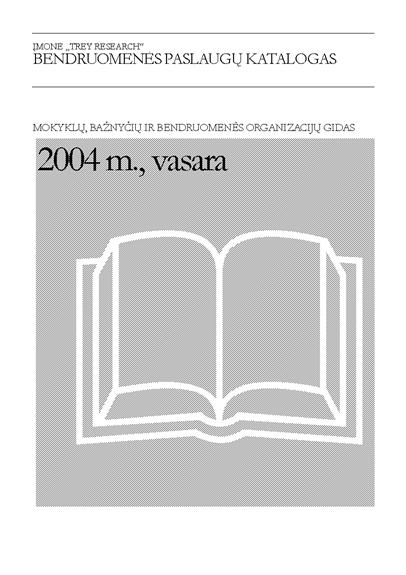 Bendruomenės paslaugų katalogas