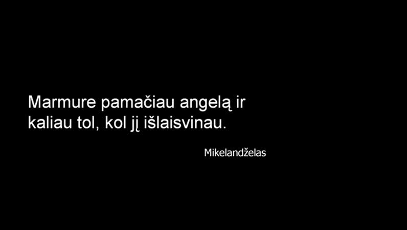 Mikelandželo citatos skaidrė