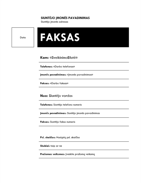 """Laiškų suliejimo faksograma (tema """"Mediana"""")"""
