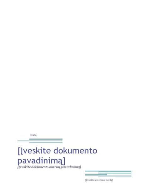 Ataskaita (miestiška tema)