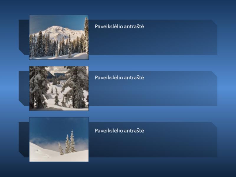Didėjantis ir mažėjantis animuotas kalnų paveikslėlis