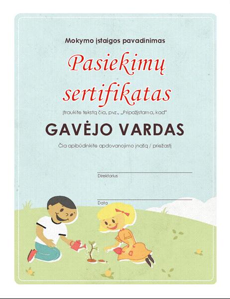 Pradinės mokyklos pasiekimų sertifikatas
