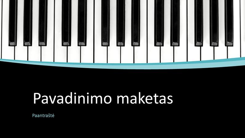 Muzikinės kreivės pateiktis (plačiaekranė)