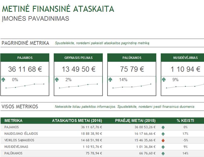 Metinė finansinė ataskaita