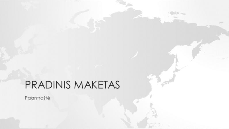 Pasaulio žemėlapių serija, Azijos kontinento pateiktis (plačiaekranė)